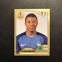 PANINI WORLD CUP RUSSIA 2018 -⚽ KYLIAN MBAPPE⚽ ROOKIE Sticker N 209 Gold Swiss