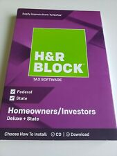 H&R Block 2018 Tax Software Homeowners/Investors Deluxe + State