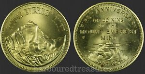June 1974 Anniversary First Coining at the Mount Everest Mint Solid Brass Medal