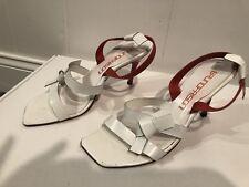 Bruno Frisoni white and orange strap sandals Size 38 EU.   GW