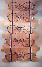 Vintage 5 pc. Cheryl Tiegs CT-133 Multi Purple 49/17 Eyeglass Frame Lot NOS