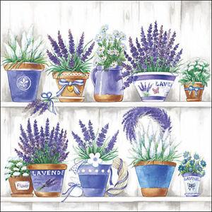 20 Paper Party Napkins Lavender Range Pack Of 20 3 Ply Luxury Tissue Serviettes