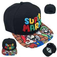 Nintendo Super Mario Bros Hat Snapback Baseball Cap Adjustable For Fan Gift New