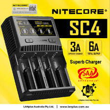 Nitecore SC4 3A 6A 4 Slot Super Battery Charger 4 lithium 18650 26650 20700 2170