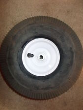 (2) 4.10 x 3.50-4 Sawtooth Tire WHEEL Cheng Shin YARD GARDEN HOSE CART DOLLY