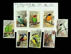 TRINIDAD & TOBAGO BIRDS 25c - $5 8v USED STAMPS