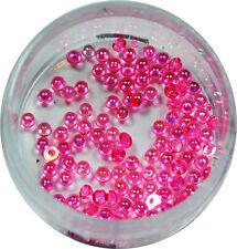 Halbperlen 1.2mm  ca. 50 Stk. Pearl Glitzer Pearl Nail Art Pink #00572-12