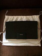 Stunning La Furla Dark Brown & Cream leather Shoulder/clutch Bag Never Used