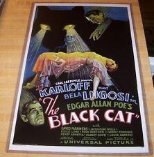 Edgar Allen Poe's The Black Cat Karloff Lugosi 11X17 Universal Movie Poster