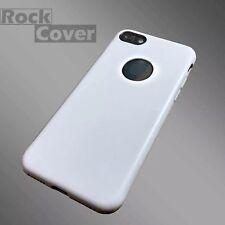 Iphone 7 caso compuesto Micro Cuero Diseño Parachoques & Protector de Pantalla Blanco