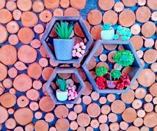 Wooden Hexagon Set From 3 Shelves Honeycomb Shelf Wall Art Geometric Decoration