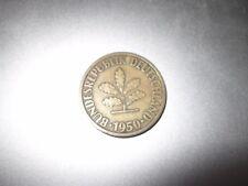 Moneda Antigua, 10 Pfennig, 1950, Bundesrepublik Deutschland