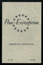 Manuel du Conducteur HONDA  ST 1100 PAN-EUROPEAN  type SC 26 à partir de 1990