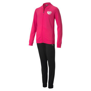 Puma Poly Suit G Mädchen Trainingsanzug Sportanzug 583317 Pink