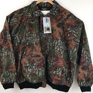 Outfitter Tuff Mens Camo Jacket Bomber Fishing Flannel Windbreaker 3XL Flaw