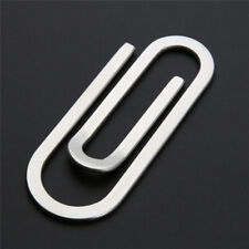 Silver Stainless Steel Paper Clip Metal Stationery Sheet Holder Grip Office CO