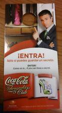 Coca Cola Do Not Disturb Door Sign - Telenovela Por Ella Soy Eva Coke Televisa