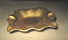 Vintage Gold Ashtray Pickard China Made In USA Hand Decorated 136 Excellent Cond