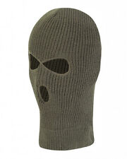 BALACLAVA - GREEN - 3 HOLE - NEW - ONE SIZE - KIDS - FISHING - CAMPING - AIRSOFT