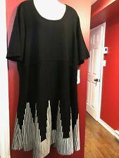 STUDIO ONE New York Women's Black/White Knit Dress - Size 3X - NWT $72