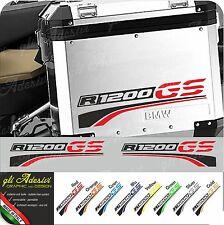 2 Adesivi Moto BMW R 1200 gs valigie NEW R1200 GS stripes color
