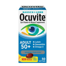 Ocuvite Adult 50 Eye Vitamin and Mineral Supplement 50 Soft Gels