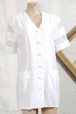 Veste blanche dentelles   taille 44  ref 0615689