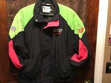 VINTAGE 80s NASCAR Interstate Batteries #18 Joe Gibbs Racing XL Jacket USA MADE