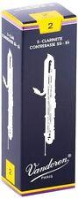 Vandoren CR152 Contrabass Clarinet Traditional Reeds Strength 2; Box of 5