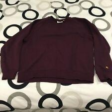 Carhartt wip-Chase Sweater burdeos de cuello redondo