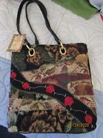 New Bueno Gold Mine Mini Purse Tote w Pull out change purse Beaded Tapestry