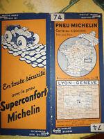 carte michelin 74 lyon geneve 1933