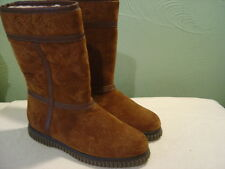 Women's BASS Brown Leather Mid Calf Boots Size 6.5M
