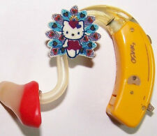 Children's Adult's Hearing Aid accessories tube decorations charms KITTY PEACOCK
