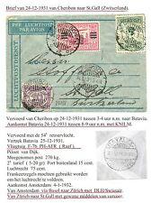 NED INDIE  1931-12-24  FC =CHERIBON-ST.GALL -  SWITZERLAND    F/VF