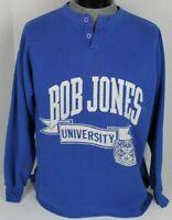 VINTAGE 1987 BOB JONES UNIVERSITY BJU THE BRUINS NCAA MENS SWEATSHIRT SIZE XL