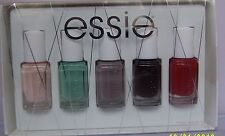 5 Lot Essie Nail Polish Set ~ Ballet Slippers,Turquoise Caicos,Chinchilly,Wicked