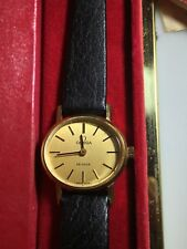 NOS New In Box Vintage 18k Gold OMEGA DE VILLE c 1970 Never Worn W Papers Manual