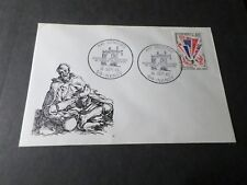 FRANCE 1965, FDC 1° jour TIMBREANNOVERSAIRE VICTOIRE, CONGRES NANCY VF
