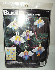 Bucilla ANGELS Christmas Ornaments Magnets Needlepoint Plastic Canvas Kit - 6159
