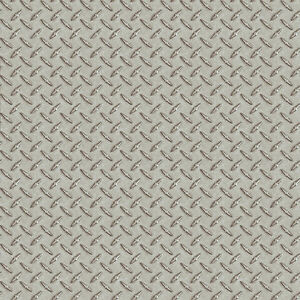 Silver Sheen Diamond Plate Metal Tread Untextured Wallpaper BYR95652