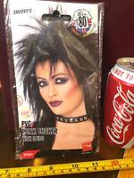 PVC Punk Choker 80's Dress Up Fancy Dress Smiffys