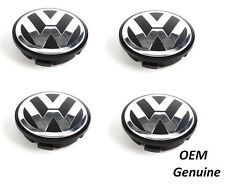Vw Wheel Center Hub Caps Cover Kit 56mm Beetle Golf Touareg Passat 4 psc GENUINE