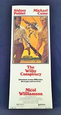Original 1975 THE WILBY CONSPIRACY Movie Poster 14 x 36 SIDNEY POITIER / M CAINE
