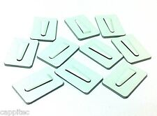 PACK OF 10 ADHESIVE METAL CABLE CLIPS SIZE SMALL 20mm x 30mm FOR 4mm CABLE