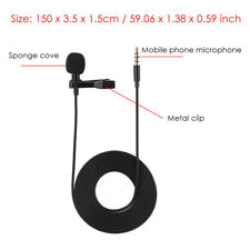 3.5mm Wired Clip On Lapel Microphone for iPhone Samsung Android & Windows Phone
