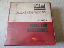 Massey Ferguson Mf Parts & Accessories Guide Manuals Dealers Binder 1970-1980