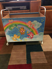Vintage 1980's Care Bears Toy Cart Toy Box with Wheels