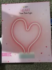 Brilliant ideas pink Led Light-up Neon Glowing Heart Anniversary Love Gift Nwt