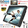 10inch ATSC DVB-T/T2 Portable Digital TV LED 1080P HD USB Car Home Television